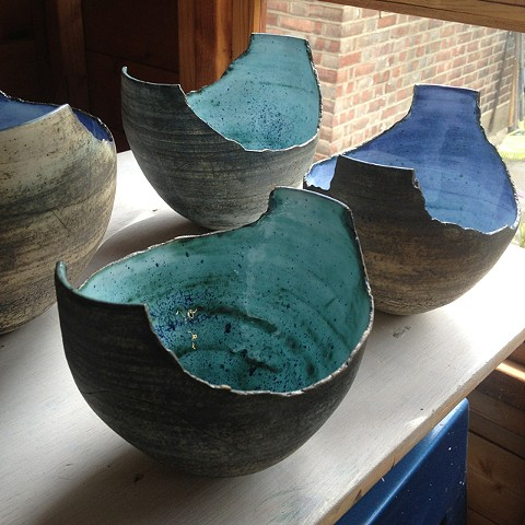 Show case- sold vessel forms