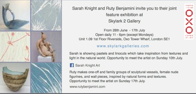 Featured Artist at Skylark 2 Gallery 27th June- 18th July 2016