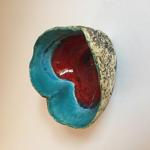Turquoise Heart candle holder- £35