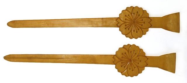 Large oiran tortoise hair sticks