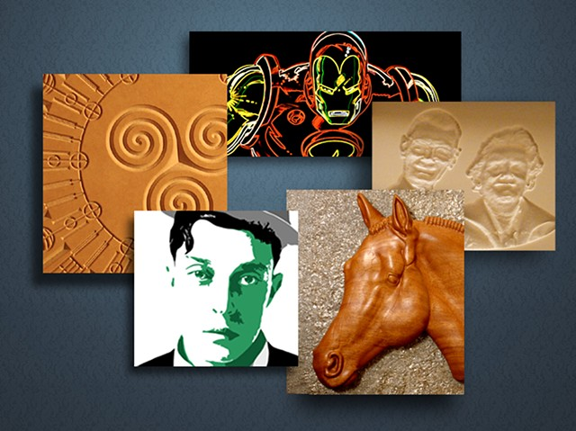 DB Artist - Pop Art - Crop Circle Reliefs and Prints -  Man Cave Signs
