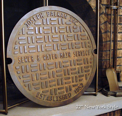 Man Cave gift, Manhole Sign, Manhole cover, Personalized Housewarming gift, Personalized Sewer Cover, Gag Gift