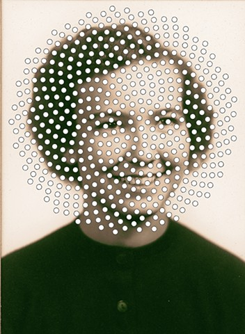 untitled (girl with white dots),