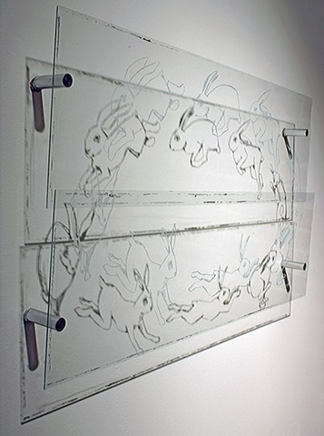 Drawings for glass Etchings