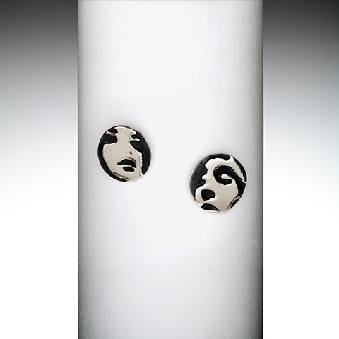 women & man sterling silver ear rings