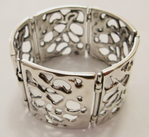 casted sterling silver