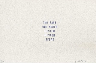 two ears one mouth listen listen speak