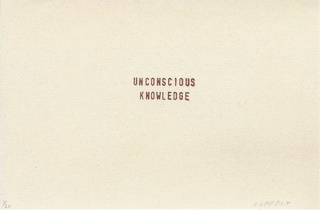 unconscious knowledge