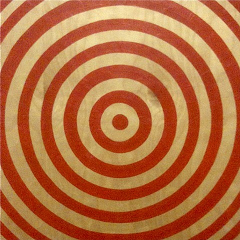 Red Target on Exposed Wood