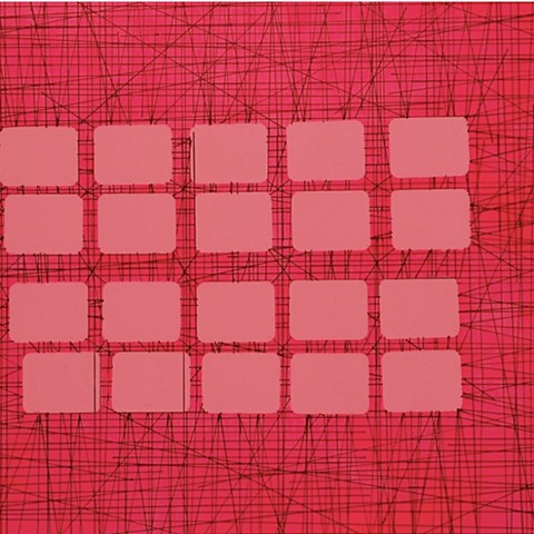 20 Ballet Pink Blocks on Hot Pink Field