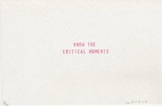 know the critical moments
