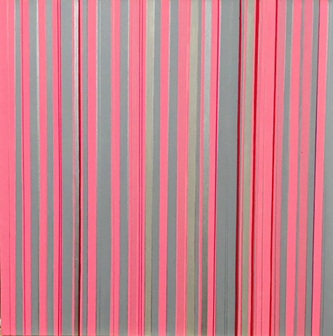 Multi-Pink Stripes with Silver