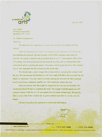 Creative Arts Letter