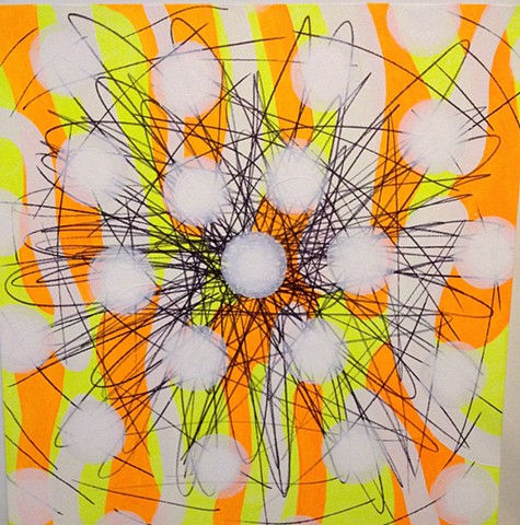 Fluorescent Yellow and Orange Burst