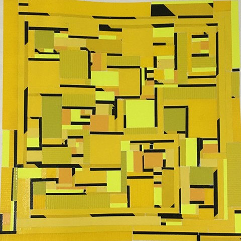 Composition in Yellow and Black