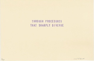 through procedures that sharply diverge