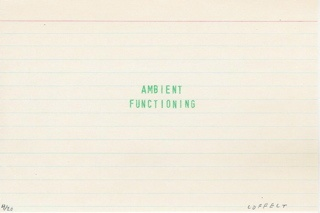 ambient functioning (white index)
