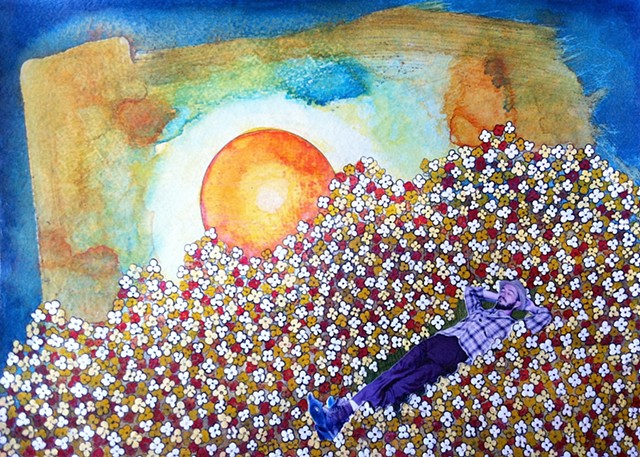 Jeffrey Schweitzer The Drifter: Lying Among the Flowers at Dawn