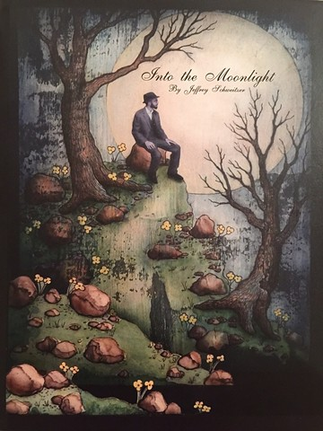 Into The Moonlight is the first illustrated short story of narrative poems by artist Jeffrey Schweitzer