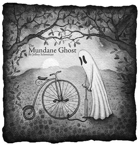 The Mundane Ghost is the fourth illustrated short story of narrative poems by artist Jeffrey Schweitzer