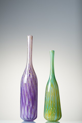 Sculptural Glass Bottles