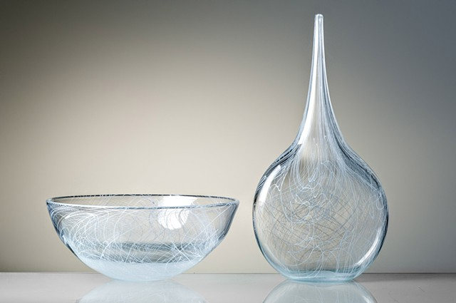 Custom Glass sculpture and bowl