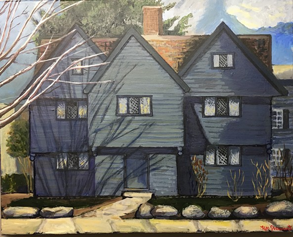 Jonathan Corwin House, Salem, MA, acrylic on canvas, 2016