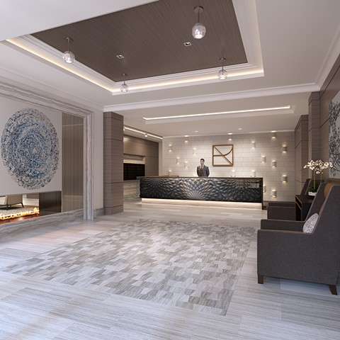 Archer Residence Lobby, Beacon Hill, Boston, MA. opening Spring 2020