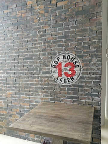 Hop House set wall