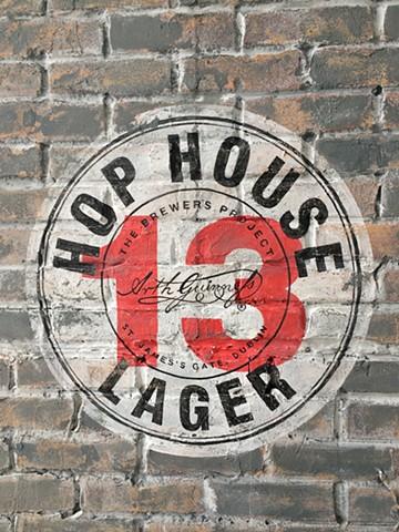 Hop House set wall