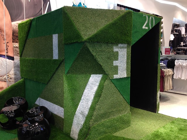 Collaged Turf video room for H&M