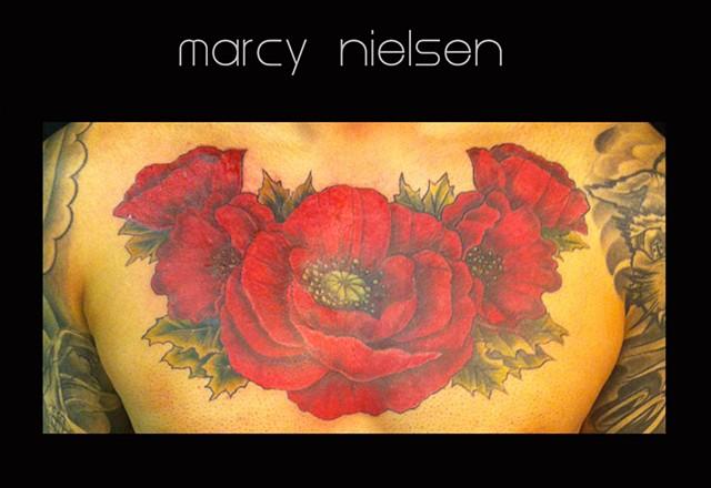 poppies flower tattoo