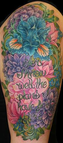 floral botanical tattoo