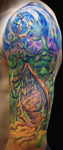 forest half sleeve