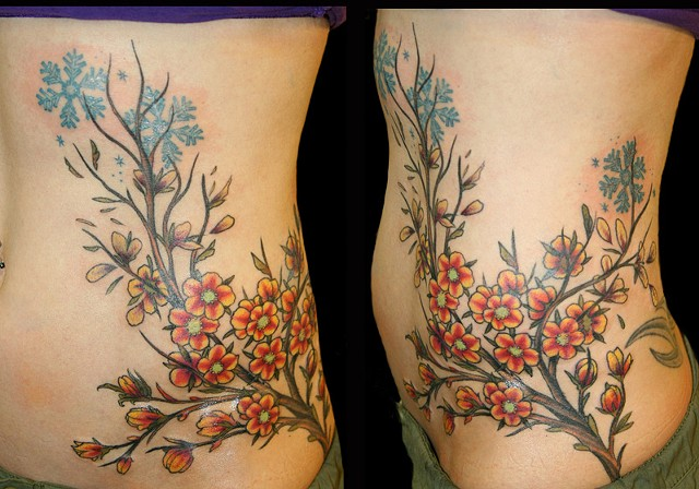 seasons nature tattoo