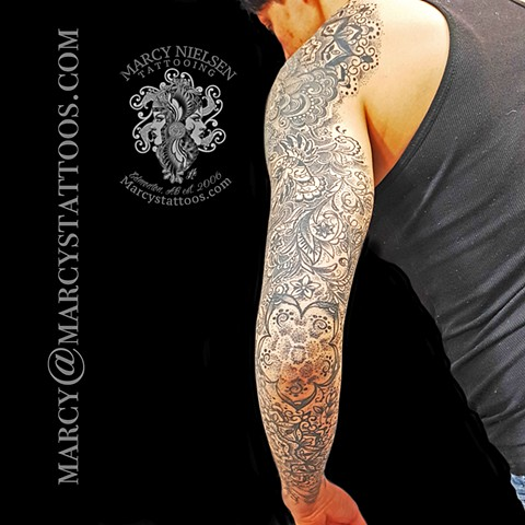 Mandala sleeve henna tattoo