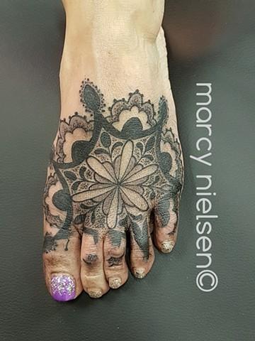 foot mandala tattoo
