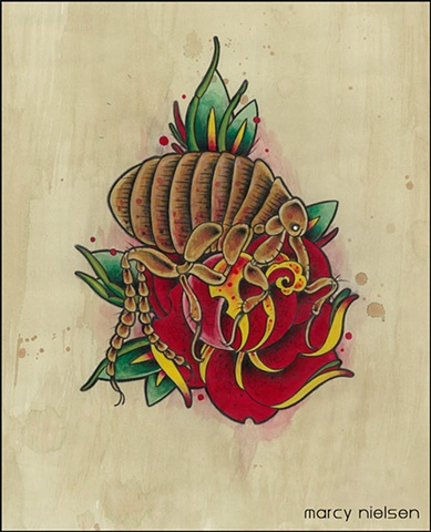 rat flea tattoo
