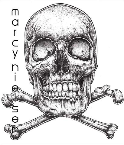 pagan skull tattoo