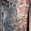 Samurai snake demon detail