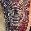 Samurai Snake demon sleeve