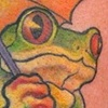 Frog holding Umbrella