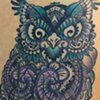 Graphic Henna Owl