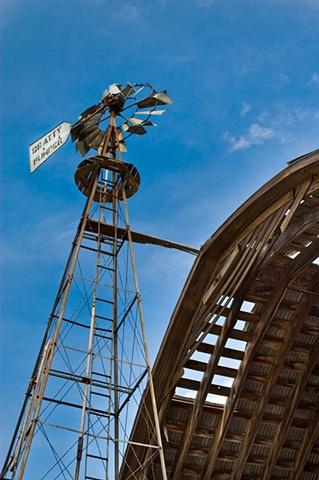 Stone house windmill