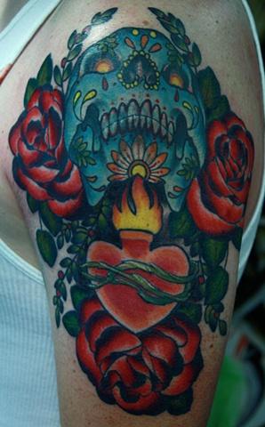 eric James tattoo Phoenix Tattoo Company sacred heart