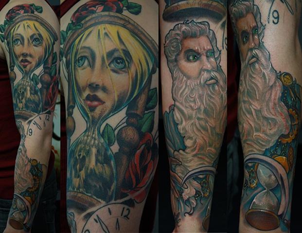 Tempus fugit Eric James tattoo Phoenix Tattoo Company