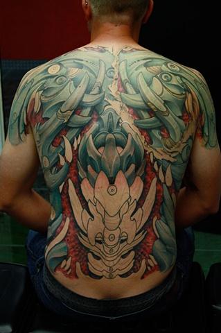 Eric James tattoo Phoenix Arizona Bio-mechanical