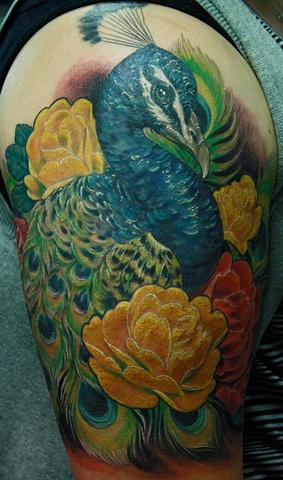Peacock Eric James tattoo phoenix tattoo company