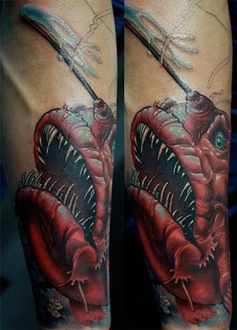 Angler fish Tattoo Eric James tattoos