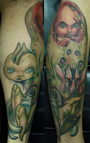 monster tattoo Eric James tattoos